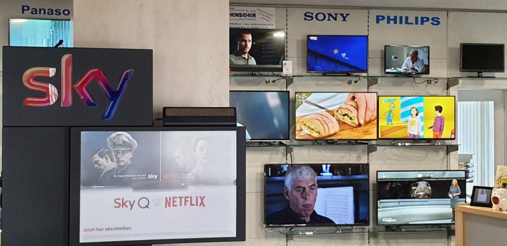 Sky und Netflix Service